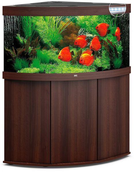 Juwel Trigon 350 LED mit Unterschrank, dunkles Holz