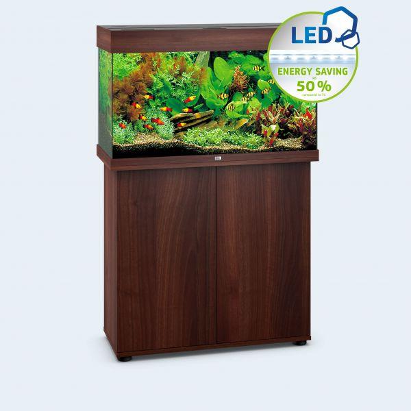 Juwel Rio 125 LED Aquarium+SBX Unterschrank dunkles Holz