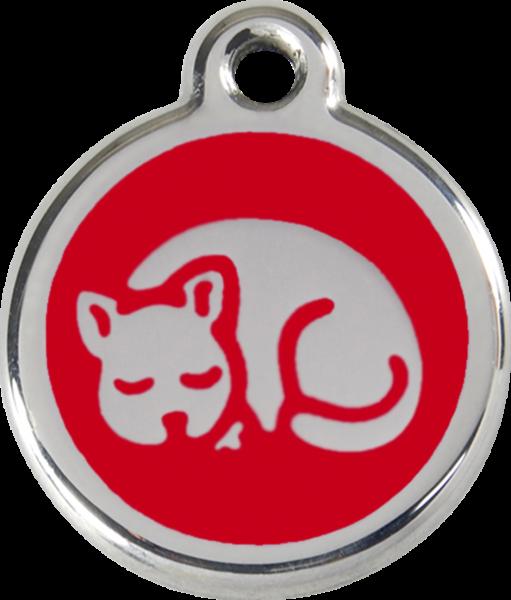 Katzenmarken mit Gravur, Adressanhänger für Katzen, Kitten Red