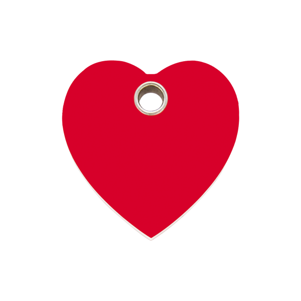 Hundemarke + Gravur, Hundemarken gravieren aus Plastik Heart Red