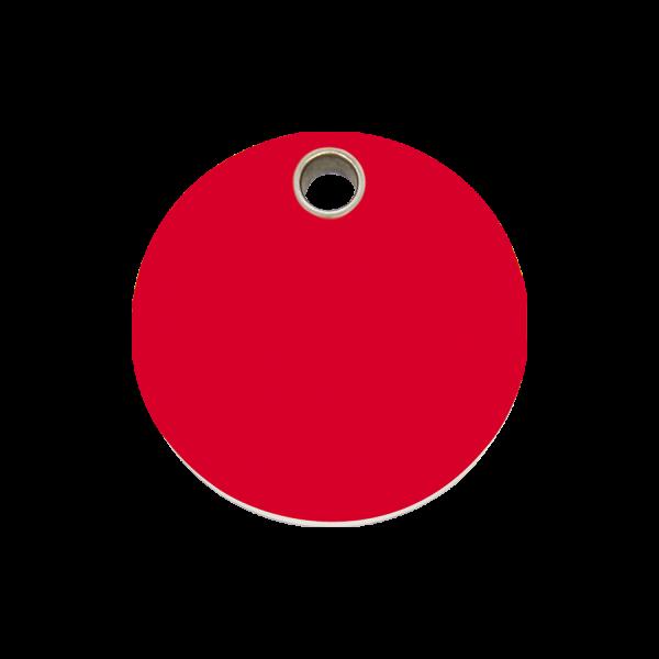 Hundemarke + Gravur, Hundemarken gravieren aus Plastik Circle Red
