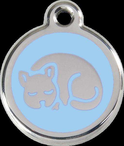 Katzenmarken mit Gravur, Adressanhänger für Katzen, Kitten Light Blue