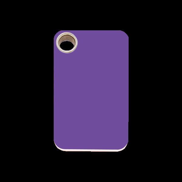 Hundemarke + Gravur, Hundemarken gravieren aus Plastik Rectangular Purple