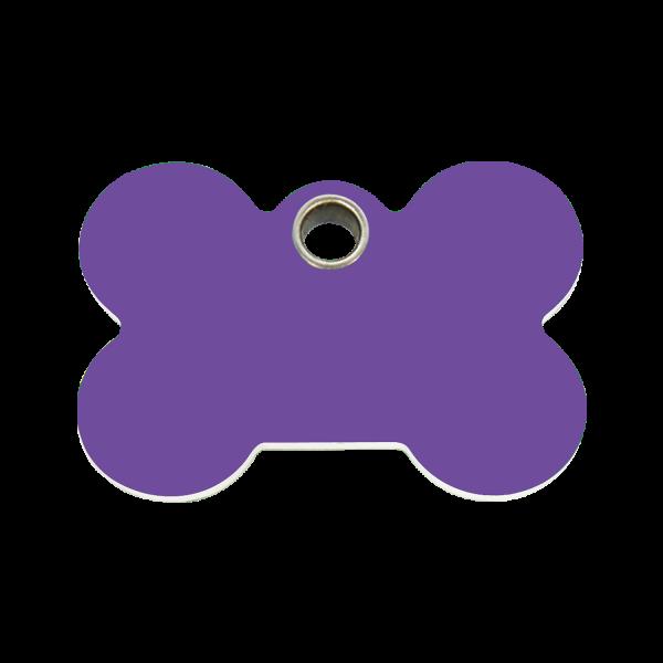 Hundemarke + Gravur, Hundemarken gravieren aus Plastik Bone Purple