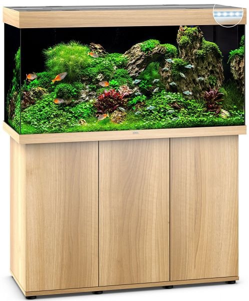 Aquarium Juwel Rio 350 LED mit Unterschrank SBX helles Holz