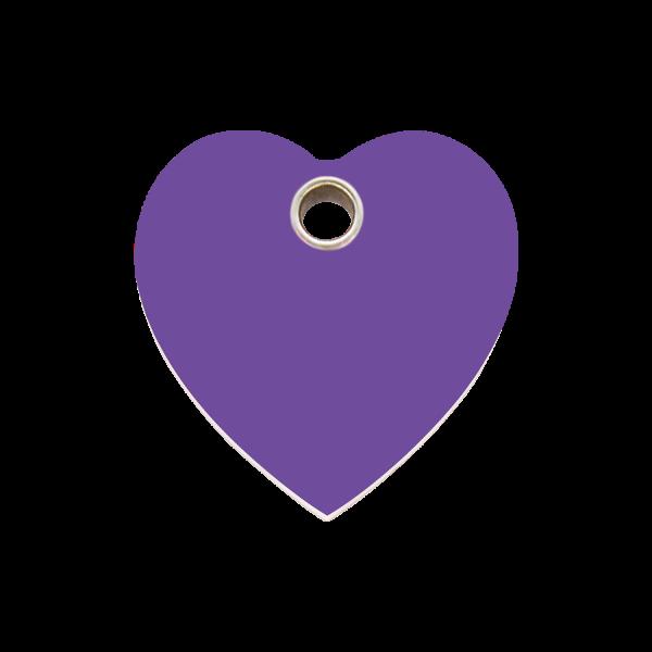 Hundemarke + Gravur, Hundemarken gravieren aus Plastik Heart Purple